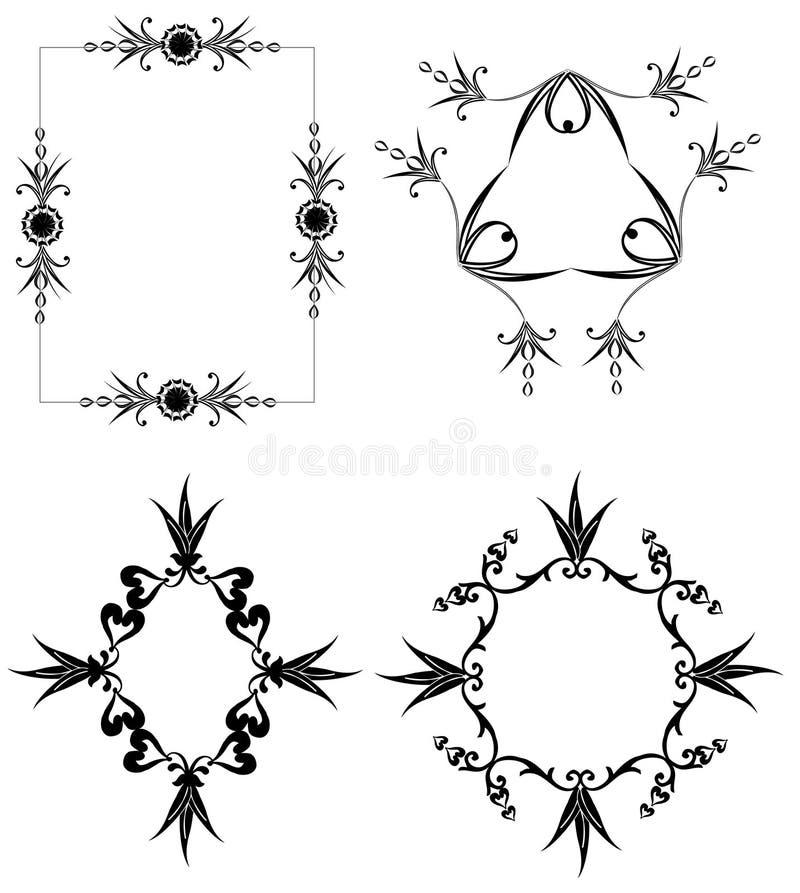 Frames Decorativos Fotografia de Stock Royalty Free