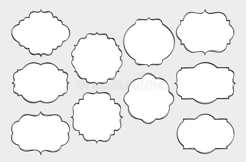 Frames desenhados mão ilustração do vetor