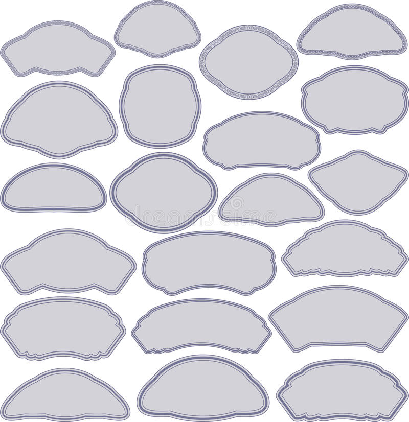 Download Frames in different shapes stock vector. Image of illustration - 27192069