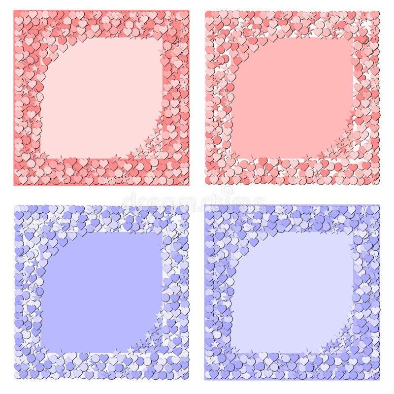 Frames do bebê ilustração stock