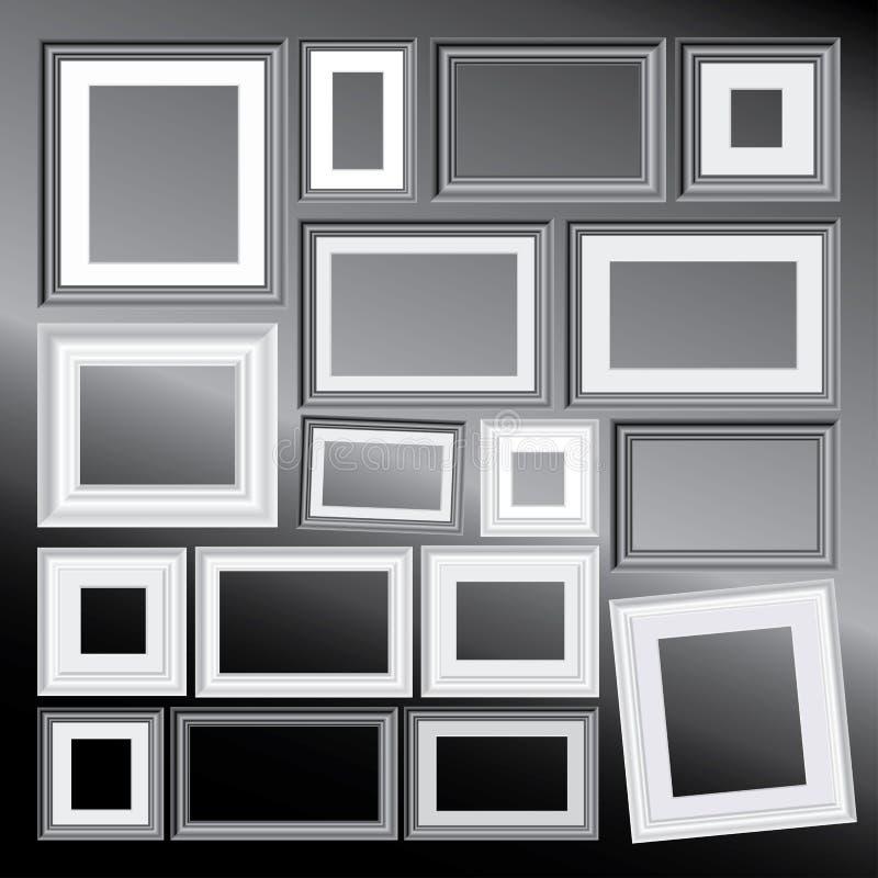 Frames Do Bw Foto de Stock