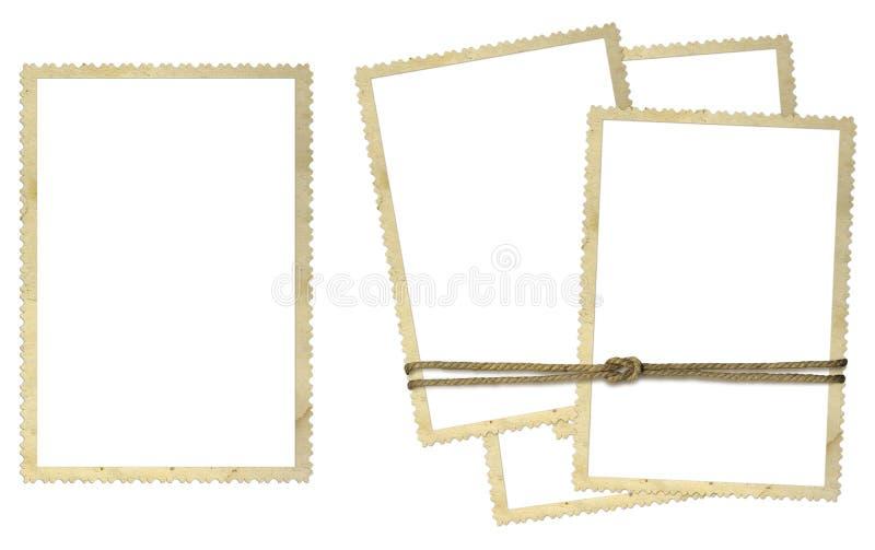 Frames do cartão para fotos ilustração do vetor