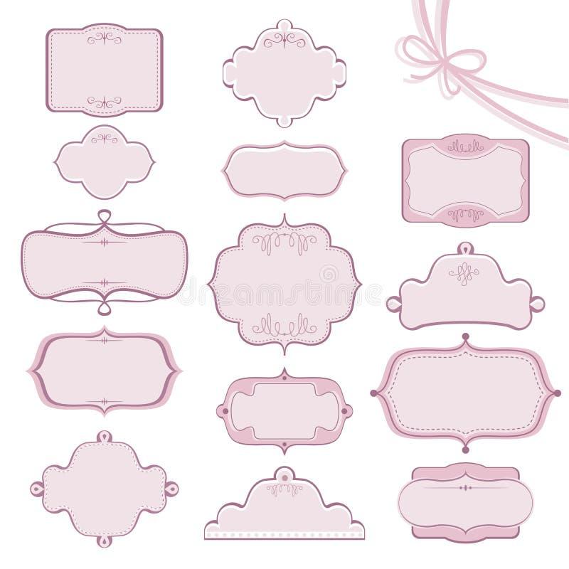 Frames do casamento ilustração do vetor