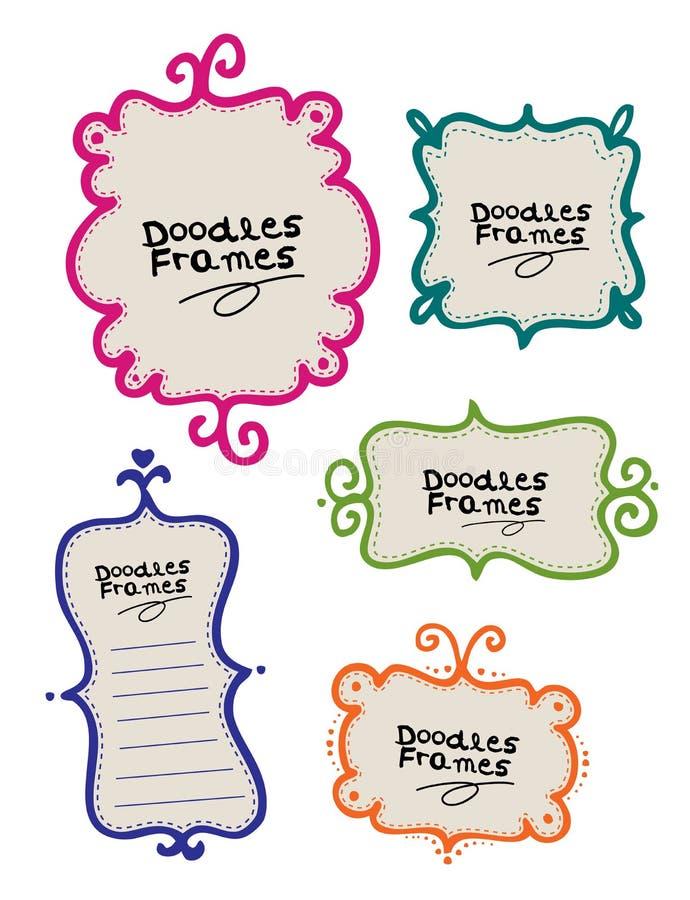 Frames do Doodle ilustração do vetor