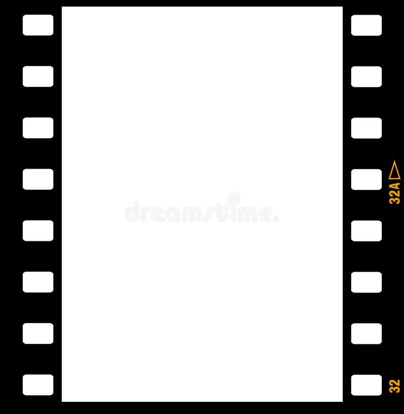 frames do frame da tira da película de 35mm ilustração do vetor