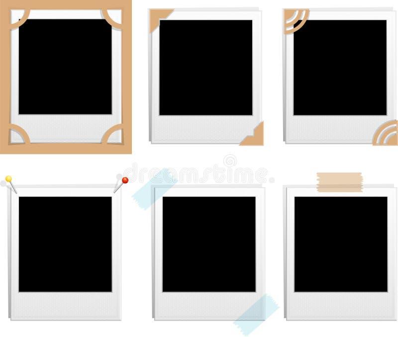 Frames do Polaroid ilustração do vetor