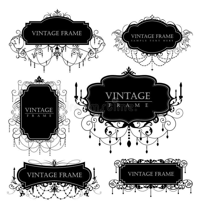 Frames do vintage ilustração do vetor