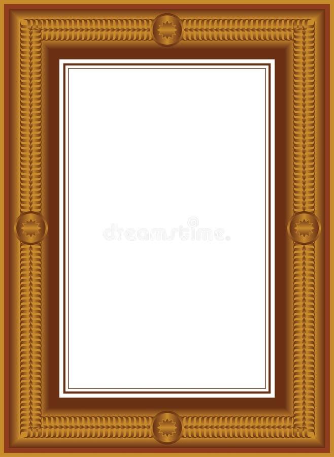 Frames dourados do vintage do vetor ilustração do vetor