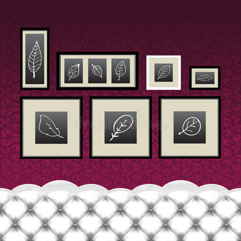 Download Frames, Drawings, Vintage Couch Stock Vector - Illustration: 28681572