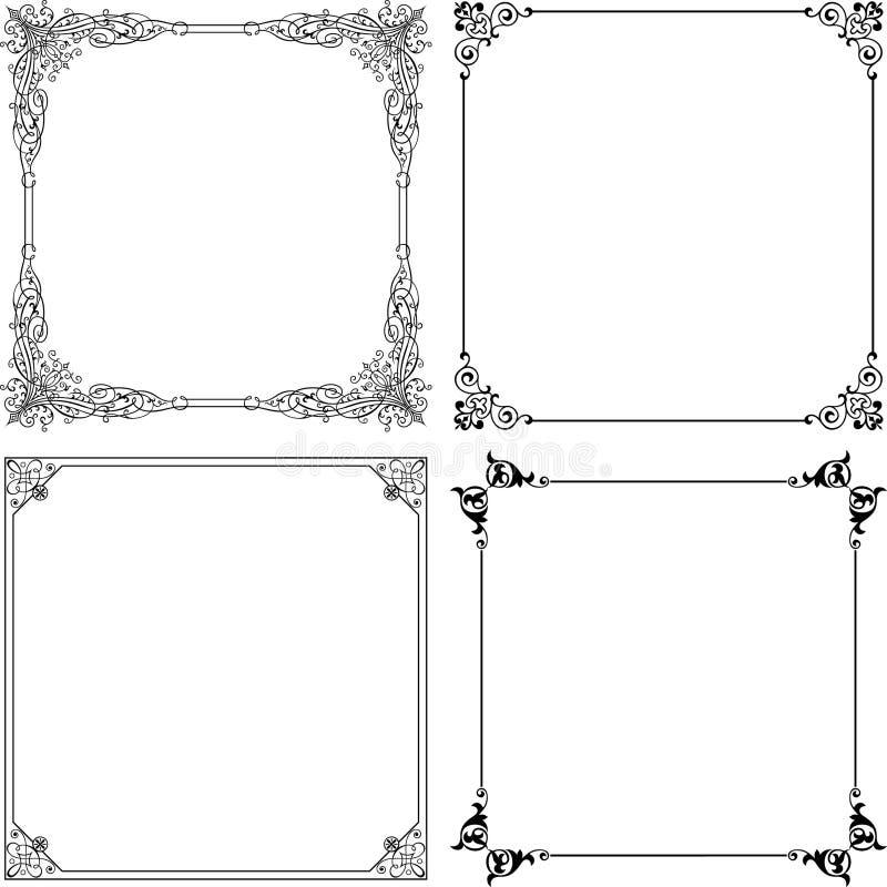 Frames elegantes do vetor ilustração royalty free