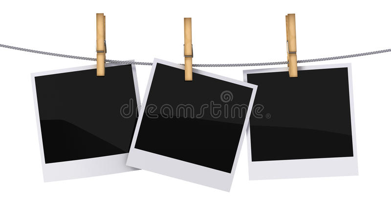 Frames em branco da foto ilustração stock