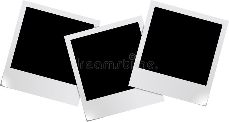 Frames em branco da foto ilustração do vetor