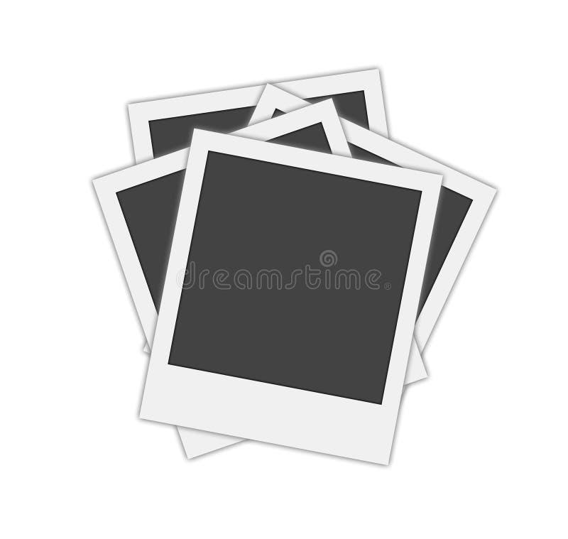 Frames em branco do polaroid ilustração do vetor