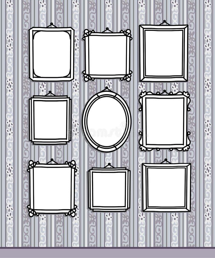Frames em branco no papel de parede