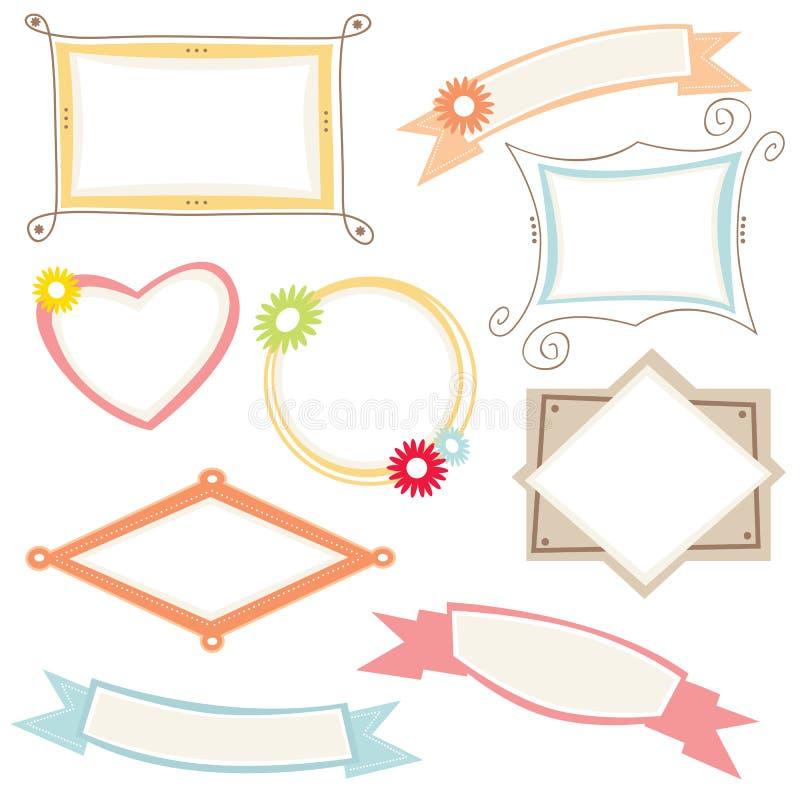 Frames en grens vector illustratie