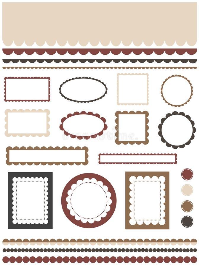 Frames en grenzen vector illustratie