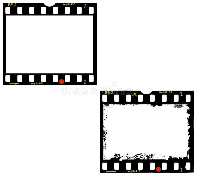 2 frames of film, photo frames royalty free illustration
