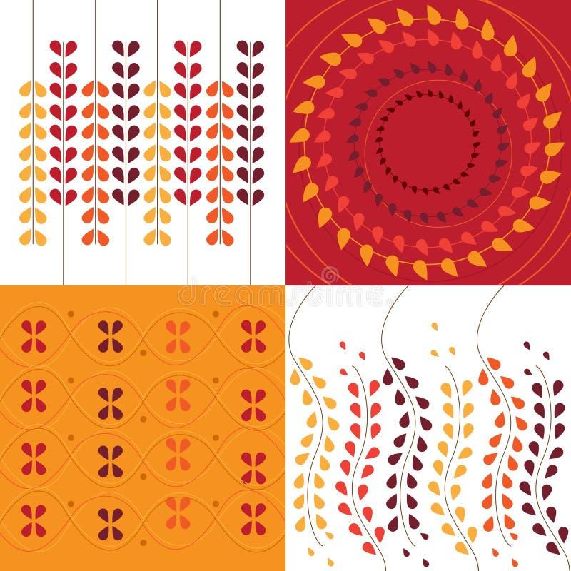 Frames florais ilustração do vetor