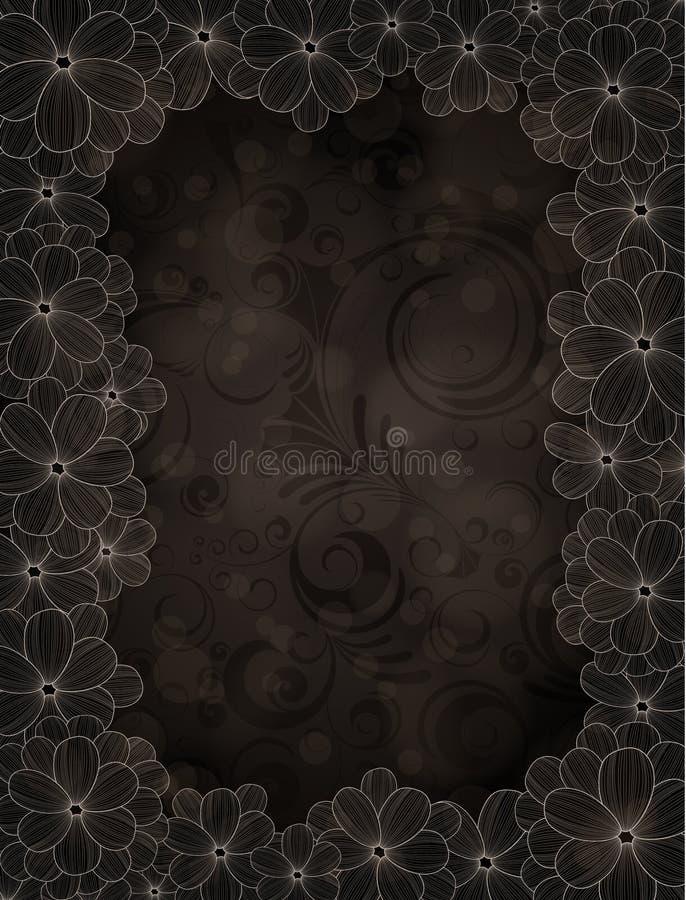 Frames florais ilustração royalty free