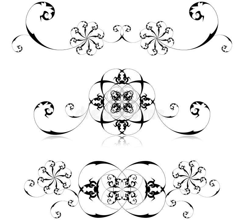Frames florais ajustados ilustração do vetor