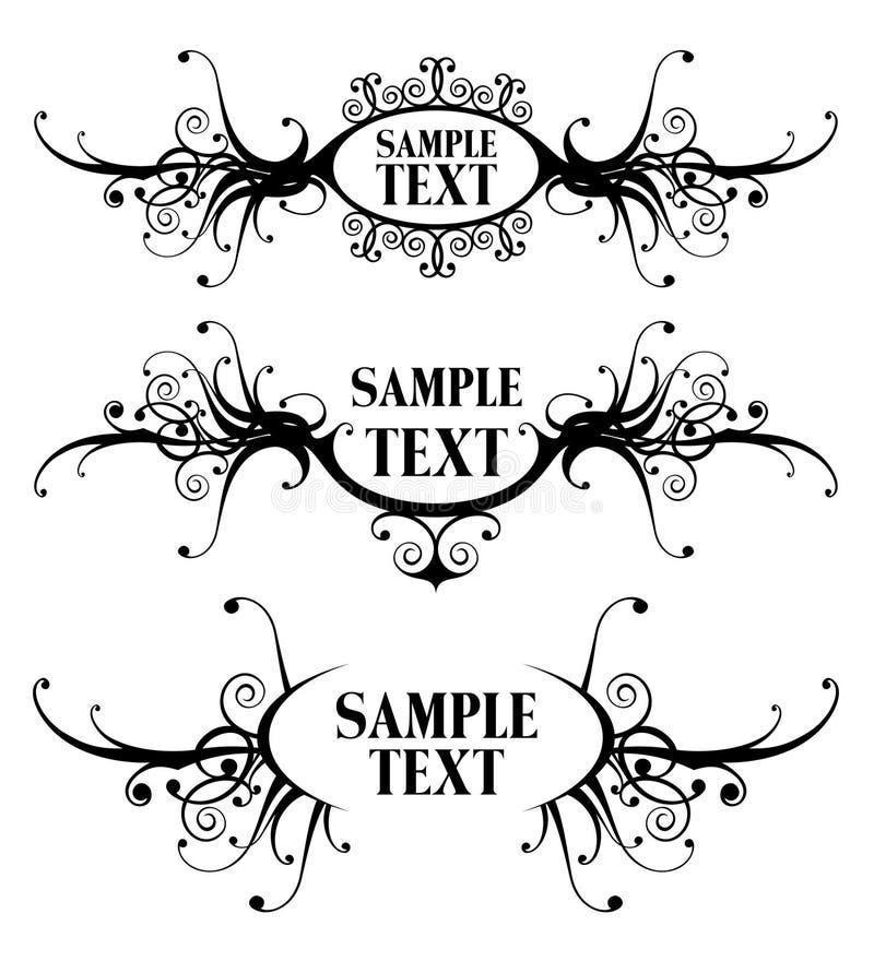Frames florais do projeto imagem de stock