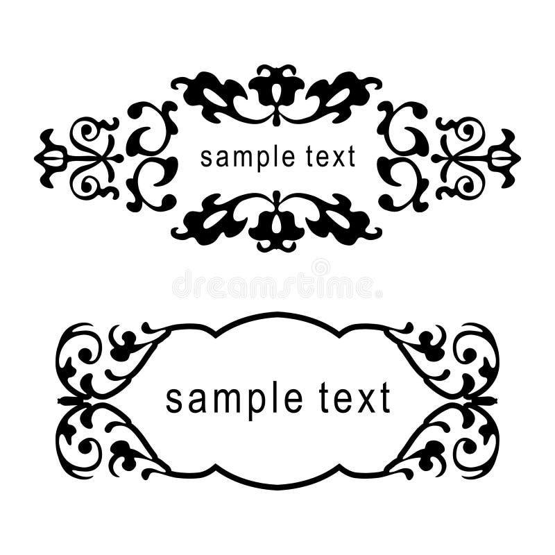 Frames florais do vetor ilustração stock