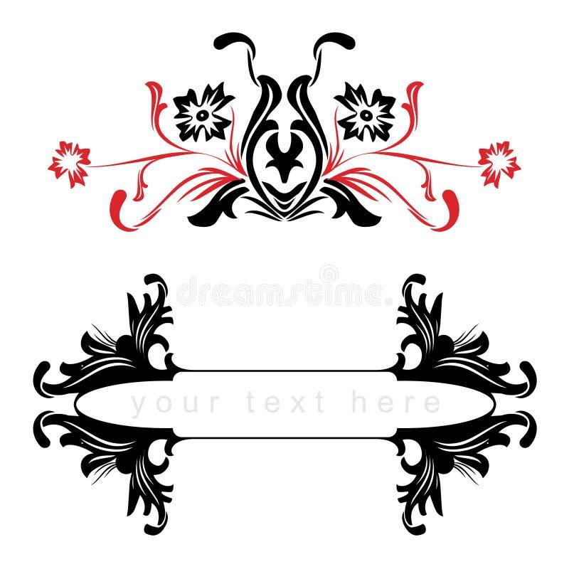 Frames florais do vetor ilustração royalty free