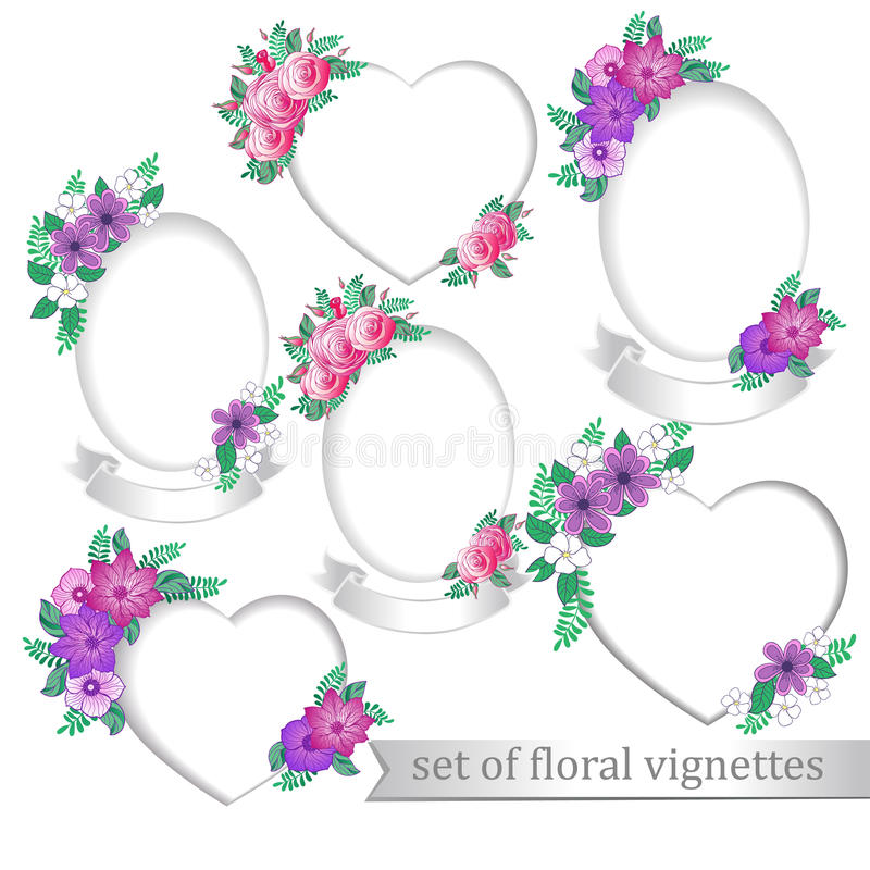 Frames with flowers stock vector. Illustration of rose - 34643329