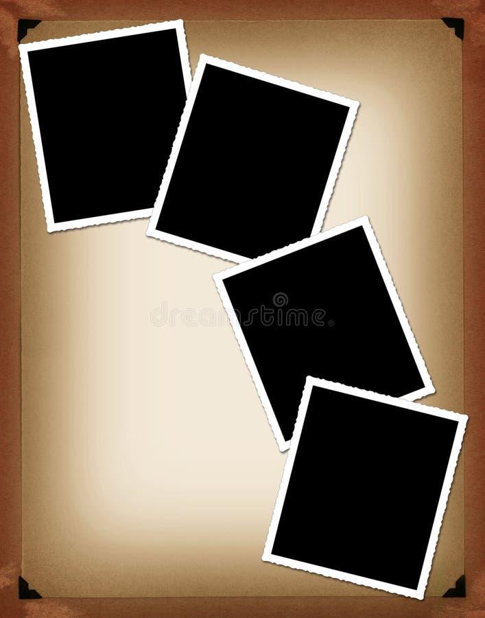 Frames imediatos da foto ilustração stock