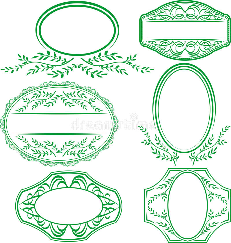 Download Frames With Leaves And Ornaments Stock Vector - Image: 24931759