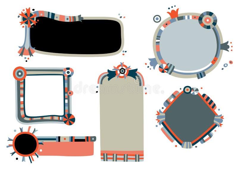 Frames lunáticos ilustração stock