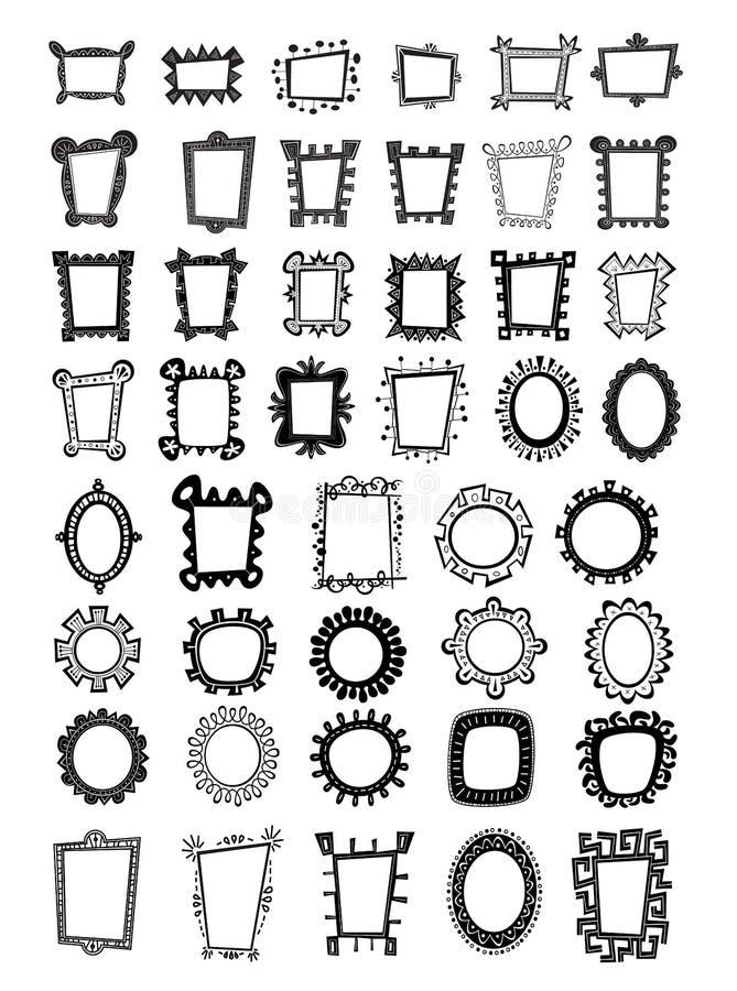 Frames lunáticos ilustração royalty free