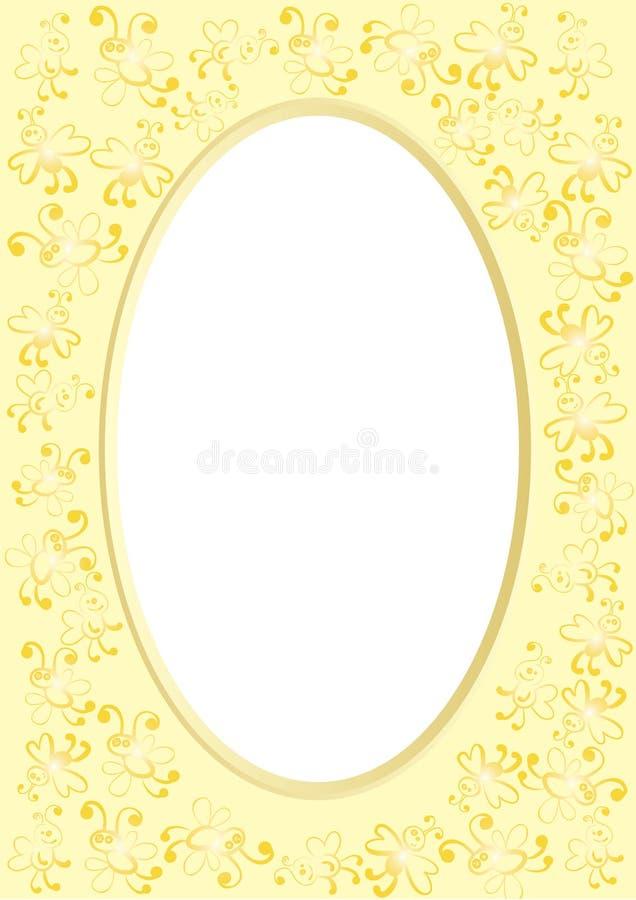 Frames met bijen royalty-vrije illustratie