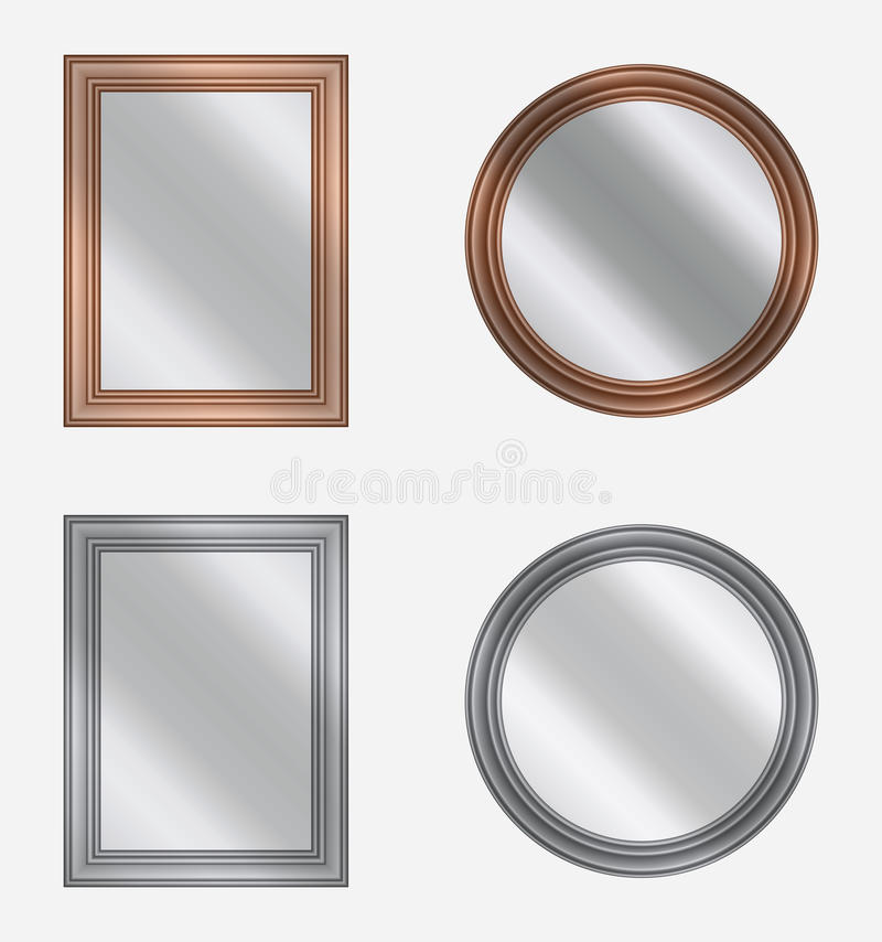 frames with mirrors, vector stock illustration