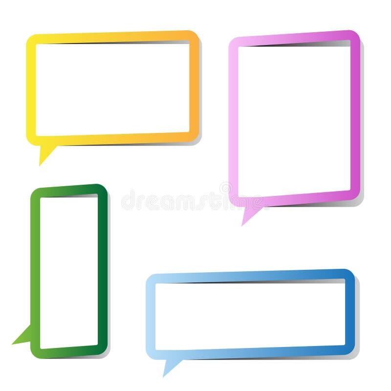 Frames Multicolor da bolha do discurso ilustração do vetor