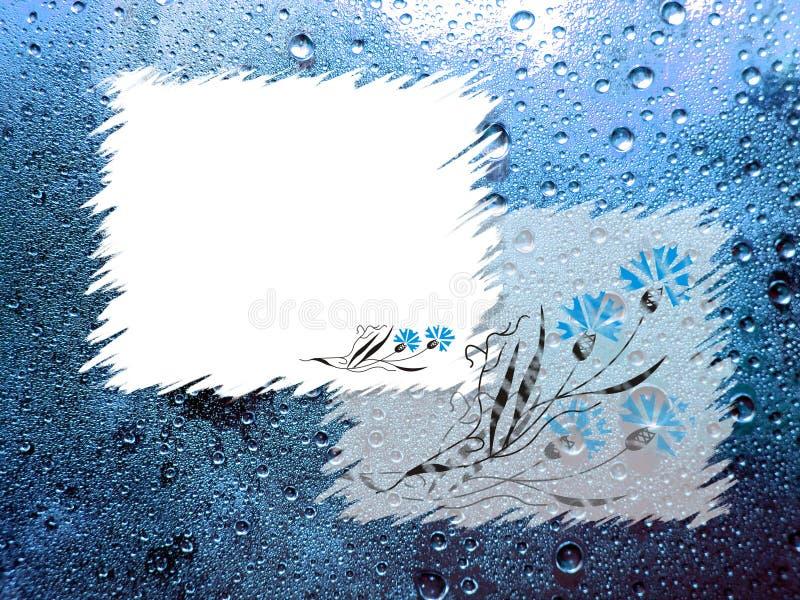 Frames op blauwe achtergrond royalty-vrije illustratie