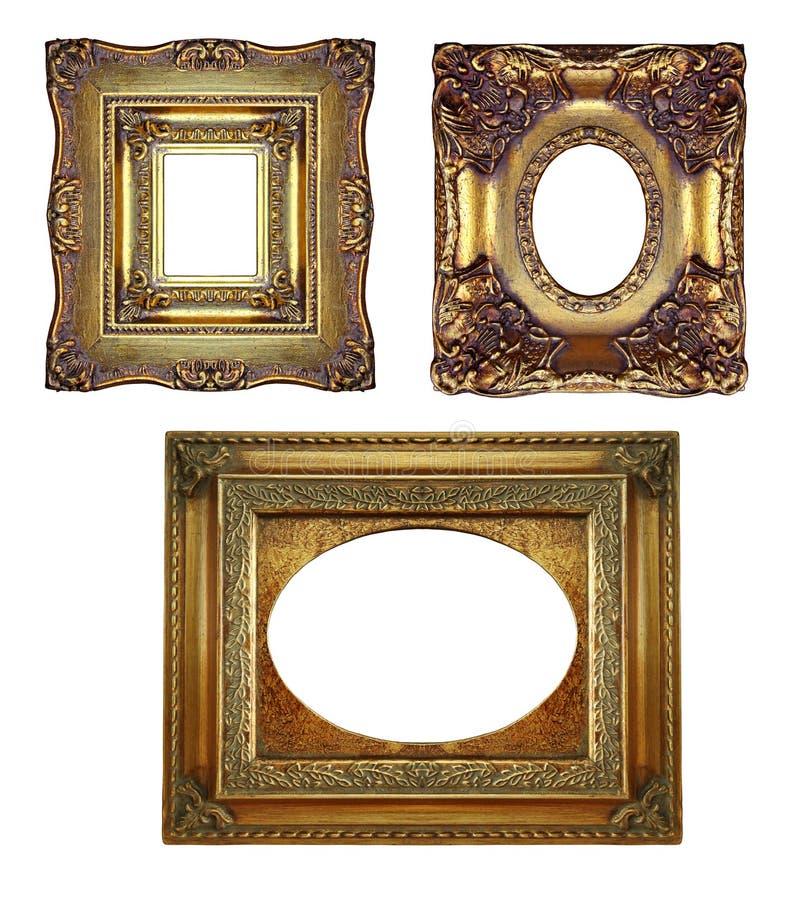 Frames ornamentado do ouro do vintage foto de stock royalty free