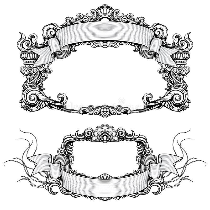 Frames ornamentado do vintage com rolo