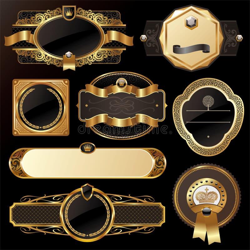 Frames ornamentado luxuosos ilustração stock
