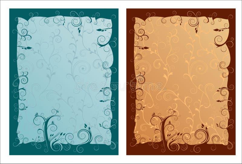 Frames ornamented artísticos   ilustração do vetor