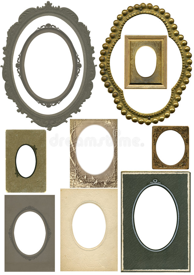 Frames ovais antigos foto de stock