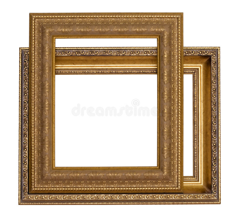 Frames for painting. On a white background royalty free stock photography