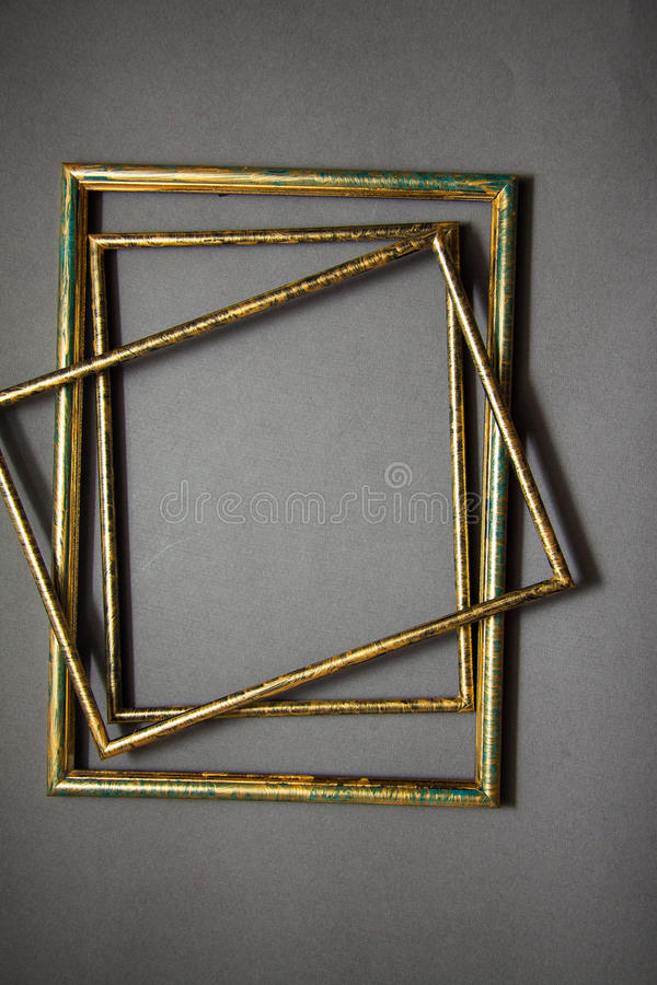 Frames for painting. Art frames background for graphic design royalty free stock photography