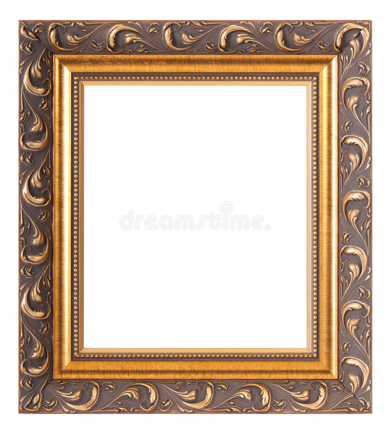 Empty gold museum frames stock photo. Image of museum - 22051296
