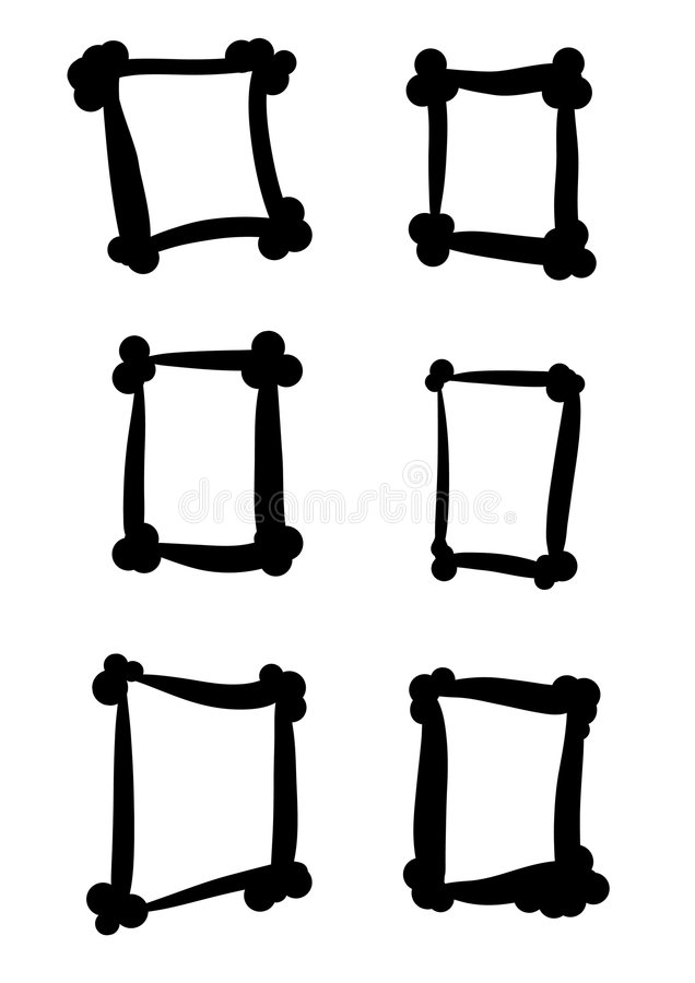 Frames pequenos ilustração do vetor