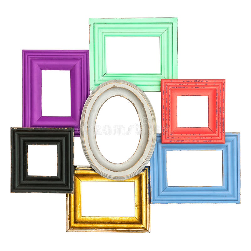Frames for photo and picture. vintage style framework stock photo