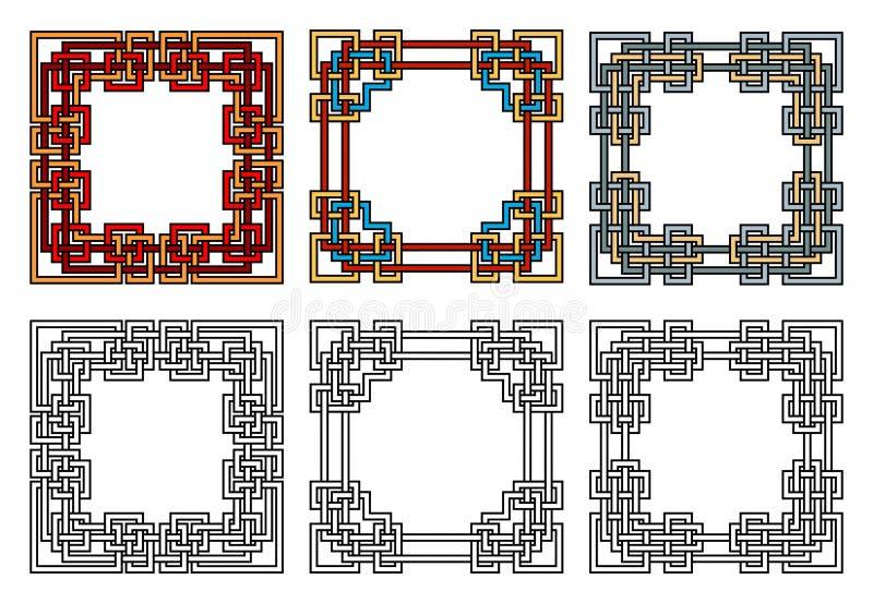 Frames quadrados ilustração stock