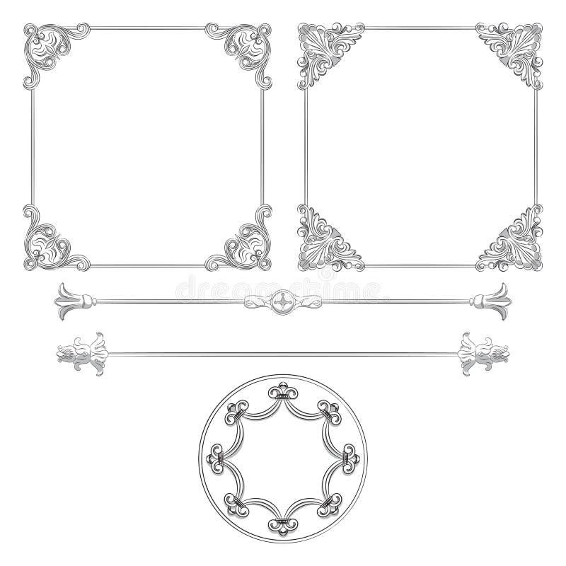 Frames retros bonitos ilustração stock