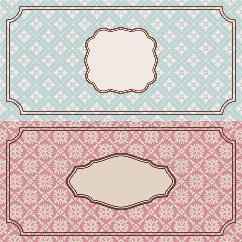 Frames retros florais ilustração do vetor
