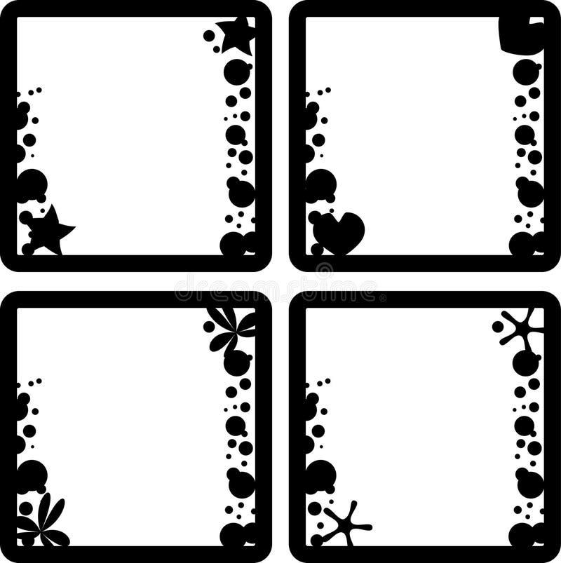 Frames set vector illustration